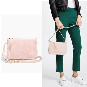 Madewell pink shearling cross body bag